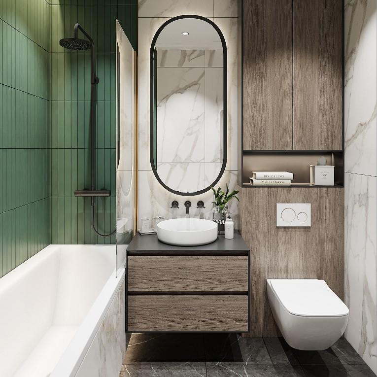 Дизайн маленькой ванной комнаты: как обустроить стильный и функциональный интерьер?