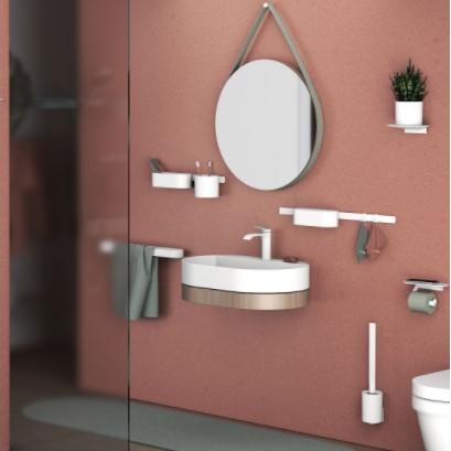Завершайте ремонт в ванной комнате с аксессуарами Hansgrohe.