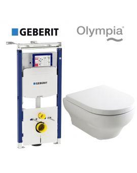 Инсталляция Geberit Duofix (3-в-1) комплект 111.362.00.5 с унитазом Olympia Clear 15CL (сиденье Soft Close)