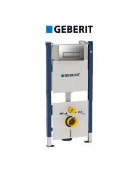 Инсталляция Geberit Duofix 458.178.46.1 (4-в-1) комплект (клавиша хром мат)