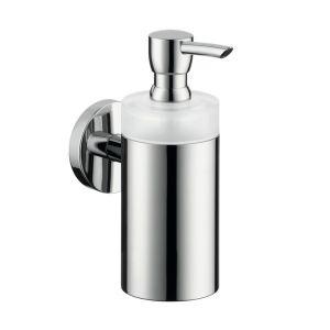 Дозатор для жидкого мыла Hansgrohe Logis (цвет - хром, стекло матовое), ёмкость 125 мл