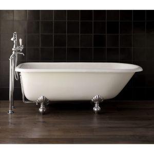 Ванна чугунная 154х78 см Devon&Devon Кensington, натуральный алюминий
