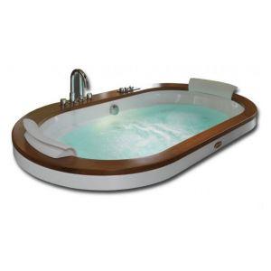 Ванна акриловая гидромассажная 190х110 см Jacuzzi Opalia Wood