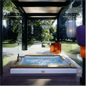 Ванна акриловая гидромассажная Jacuzzi Aura Plus Wood 180 х 150 см