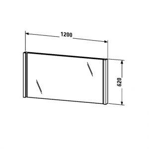 Зеркало с подсветкой Duravit 2nd Floor 620x1200
