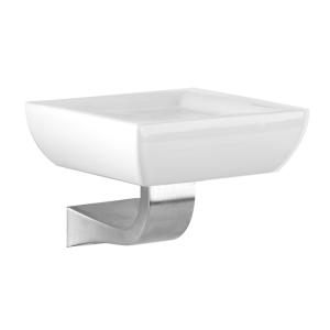 Мыльница керамическая, настенная Gessi Mimi accessories (цвет - хром/белый)