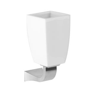 Стакан для зубных щеток керамический, настенный Gessi Mimi accessories (цвет - хром/белый)