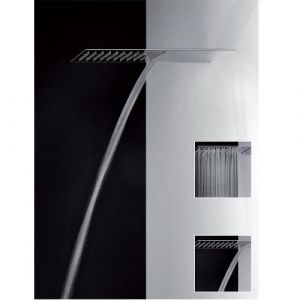 Верхний душ Gessi Private Wellness TREMILLIMETRI  QUADRO 300 33063-238