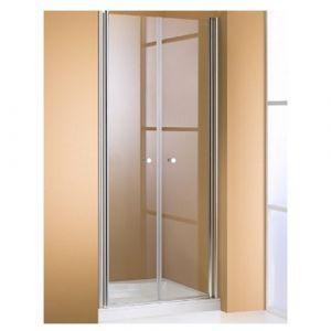 Дверь, открывающаяся вовнутрь и наружу Huppe 501 Design (профиль - серебро матовое; стекло прозрачное)