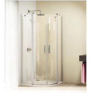 Душевой уголок с распашными дверцами с неподвижным сегментом Huppe 501 Design 510672