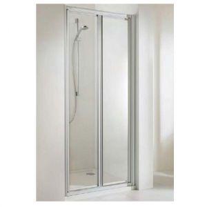 Душевая дверь Huppe Alpha PT 900 (профиль - матовое серебро; стекло - прозрачное Patific S)