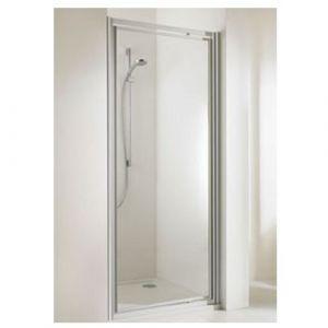 Распашная дверь в нишу Huppe Alpha ST 900 (профиль - матовое серебро; стекло - прозрачное)