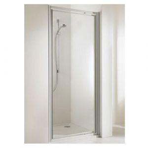 Распашная дверь в нишу Huppe Alpha ST 1000 (профиль - матовое серебро; стекло - прозрачное)
