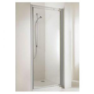 Распашная дверь в нишу Huppe Alpha ST 800 (профиль - матовое серебро; стекло - прозрачное)