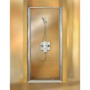 Распашная дверь в нишу Huppe Classics ST 800 (профиль - серебро матовое; стекло - прозрачное)