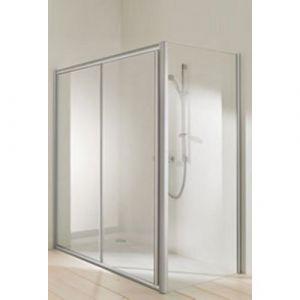 Двухсекционная раздвижная дверь в нишу Huppe Classics elegance (профиль - серебро матовое; стекло - прозрачное)