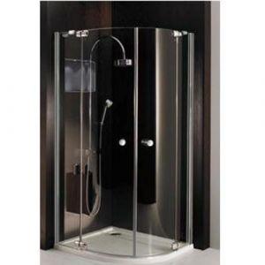 Полукруглый душевой уголок с распашными дверцами и неподвижными сегментами Huppe Studio Paris PT2320