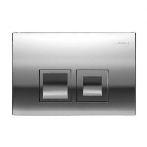 Клавиша смыва, двойной смыв Geberit Delta 50 (пластик хром глянцевый)