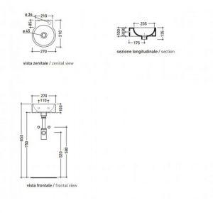 Раковина мини-раковина Flaminia Twin 5059