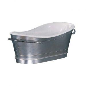 Ванна акриловая LineaTre 168 х 80 см, сусальное серебро