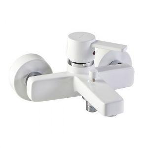 Смеситель для ванны и душа с термостатом Kludi Zenta белый/хром