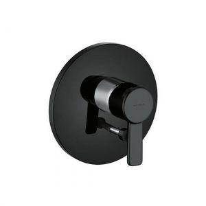 Встраиваемый смеситель для ванны и душа Kludi Zenta (цвет - черный/хром)