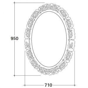 Зеркало в металлической раме Globo Paestum 95х71х3 PASR38