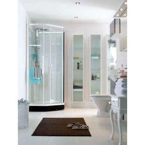 Душевая кабина Ido Showerama 8-5 (профиль - белый, стекло - матовое, с декором)