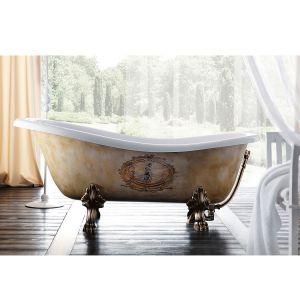 Ванна акриловая 170х80 см Gruppo Treesse Epoca + ножки (бронза)