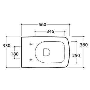 Крышка для унитаза с микролифтом Globo Relais RE020.BI