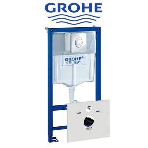 Инсталляция Grohe Rapid SL (4-в-1) комплект 38750001 (клавиша хром)