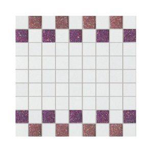 La Fabbrica Montenapoleone 300x300 961L21 Mosaico Starlight Rosso Bianco Musa