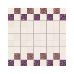 La Fabbrica Montenapoleone 300x300 961L25 Mosaico Starlight Rosso Vaniglia Musa