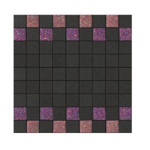 La Fabbrica Montenapoleone 300x300 961L33 Mosaico Starlight Rosso Grafite Musa