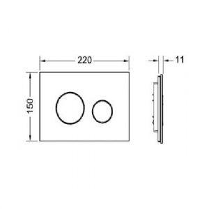TECEloop панель смыва с двумя клавишами панель стекло белое/кнопка белая)