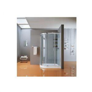 Душевое ограждение в форме четверти круга с 3 панелями, раздвижные двери Samo New CEE