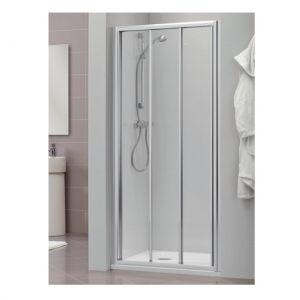 Раздвижная дверь для ниши, разные размеры Duka Dukessa 3000 glass new 75х190 см (профиль - матовое серебро; стекло - прозрачное)