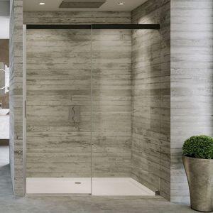 Душевые двери Duka Acqua 5000 120х200 см (профиль - хром/серебро глянцевое; стекло - прозрачное со вставкой сверху)