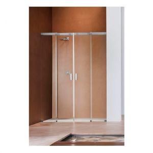 Душевая дверь Duka Acqua 5000 160х200 см (профиль - хром; стекло - прозрачное со вставкой сверху)