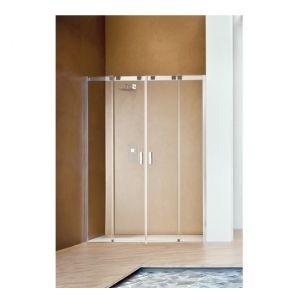 Раздвижная дверь с центральным входом для ниши Duka Acqua R 5000 140х200 см (профиль - хром; стекло - прозрачное)