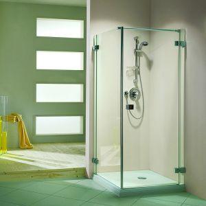 Duka Pura 5000 безрамная  Распашная дверь и боковая стенка, разные размеры TW1+W1