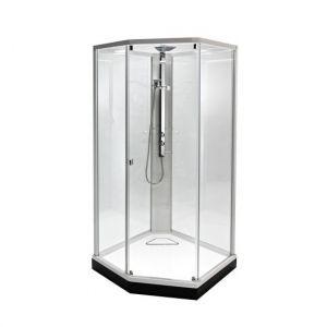 Душевая кабина IDO Showerama 8-5 90х90 (профиль белый, стекла прозрачные) 49850-22-909