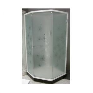 Душевая кабина IDO Showerama 8-5 90х90 (профиль белый, стекла художественные (Dandelion ll)/прозрачн
