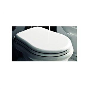 Сиденье Kerasan RETRO белое, хромовые шарниры 109001