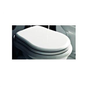 Сиденье для унитаза Kerasan RETRO белое с функцией SoftClose хром 108801