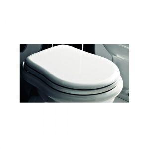 Сиденье для унитаза Kerasan RETRO белое с функцией SoftClose бронза 108601