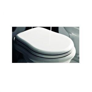 Сиденье для унитаза Kerasan RETRO белое с функцией SoftClose золото 108701