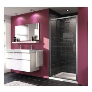 Распашная дверь Huppe X1  для ниши или в комбинации с боковой стенкой (профиль - серебро c ярким блеском; стекло - прозрачное)
