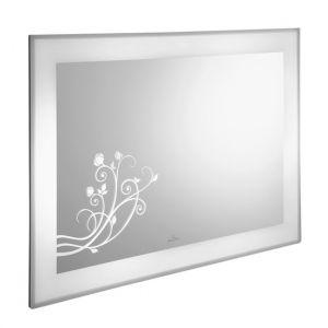 Настенное зеркало с цветочным декором Villeroy & Boch LaBelle 1050 x 750 x 67 mm