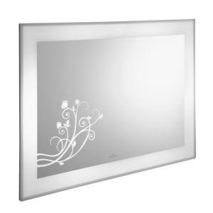 Настенное зеркало с цветочным декором Villeroy & Boch LaBelle 1350 x 750 x 67 mm